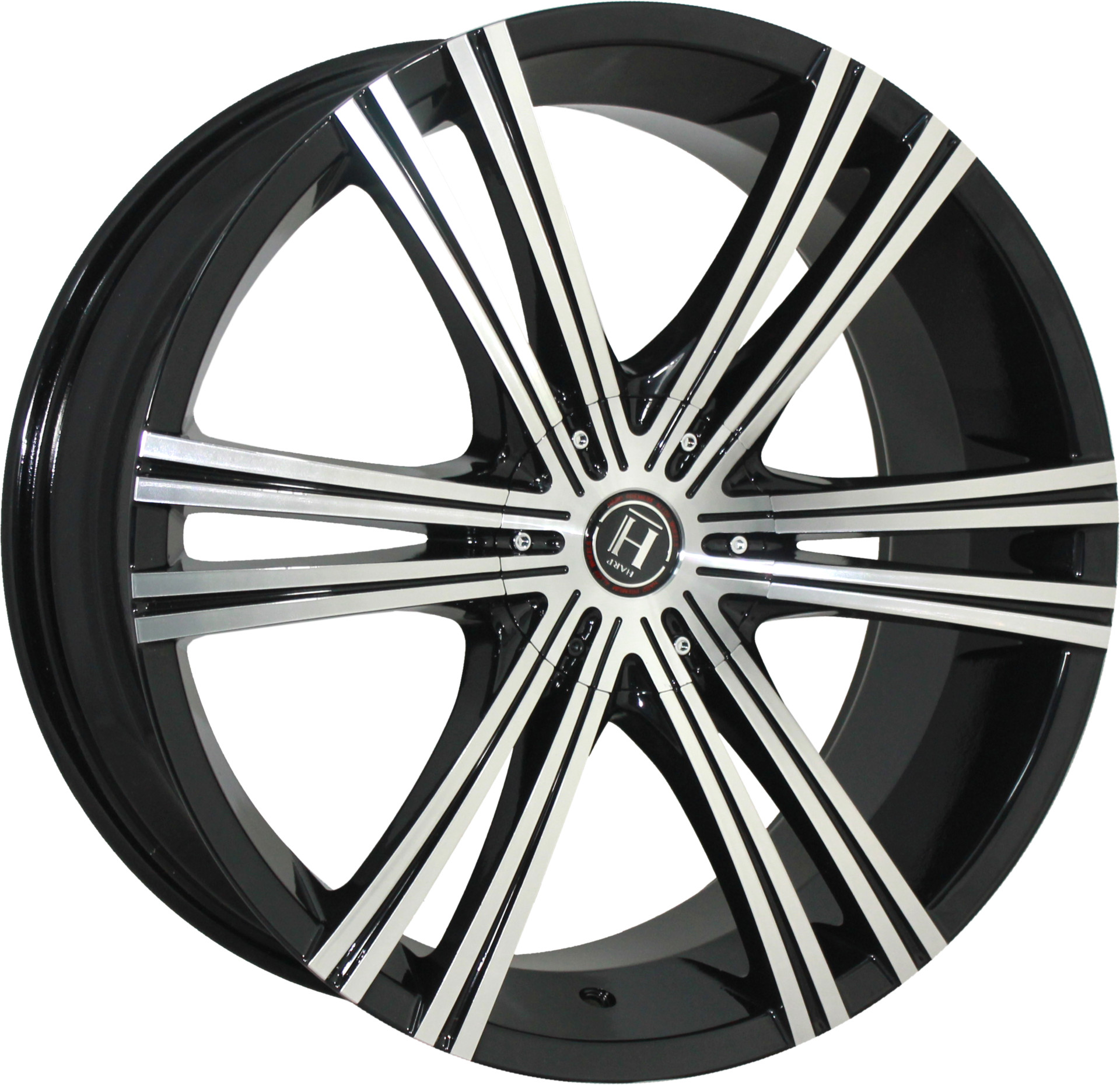HARP Y-28 8.5x20/5x114.3 ET40 D74.1 Glossy-Black__Machined-Face