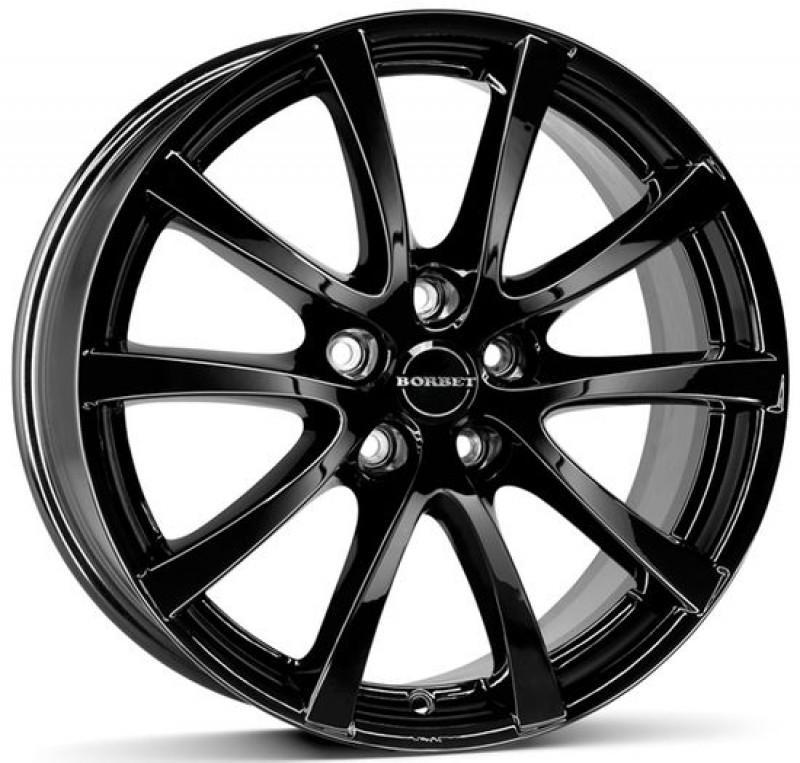 Литой диск Borbet LV5-bg Black Glossy / Черный глянецевый 7x16 5x112 ET37 DIA72.5